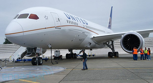 Boeing 787 Dreamliner with United