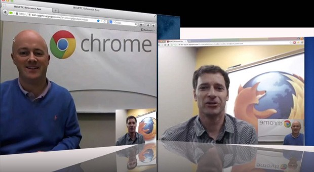 Chrome and Firefox in WebRTC chat