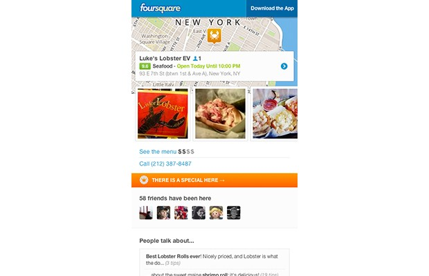 Foursquare adds tips and