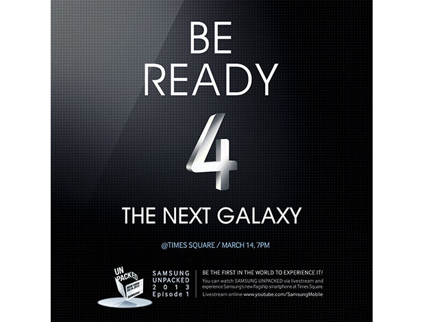 Samsung invites the public to Times Square for its Galaxy S IV unveiling