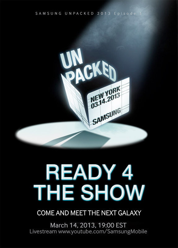 Samsung confirms Galaxy S IV launch on March 14th in NYC