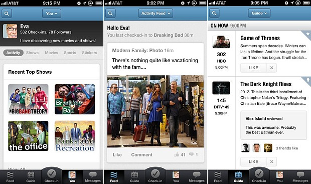 GetGlue update brings personalized guides, feeds to iPhone  and new ads