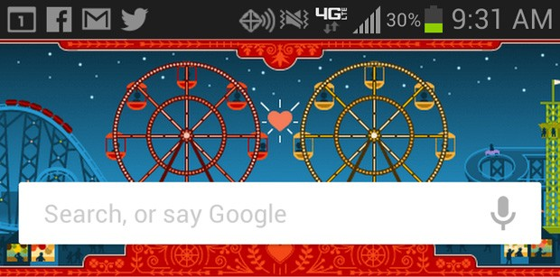 Google Now shows Google Doodles for some Android users