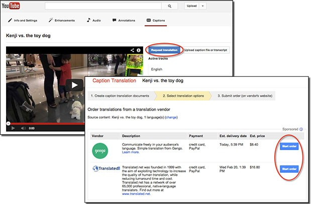 google pro translation 2 21 13 01 YouTube partners with vendors for paid translation service