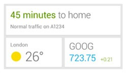 Google Now widget leaks, gets