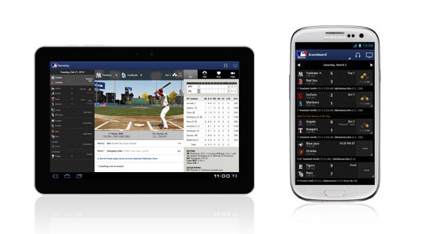 MLB At Bat 2013 app warms up for spring training, starts pitching in BB10\'s bullpen