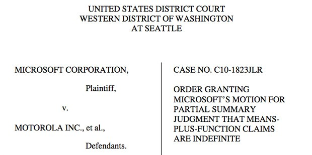 Judge invalidates 13 Motorola patent claims against Microsoft