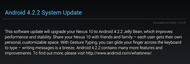 Android 422 update reportedly arriving on Galaxy Nexus phones, Nexus tablets