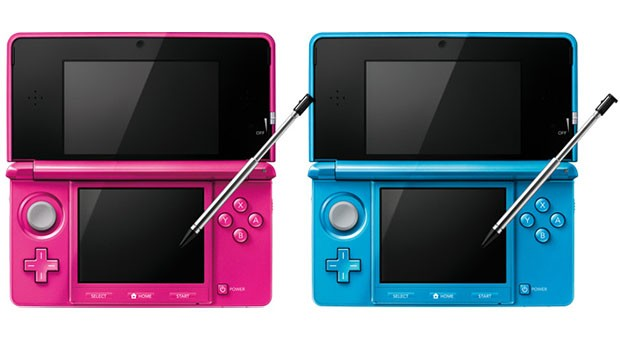 Nintendo's stork brings twin 3DS models in pink and blue