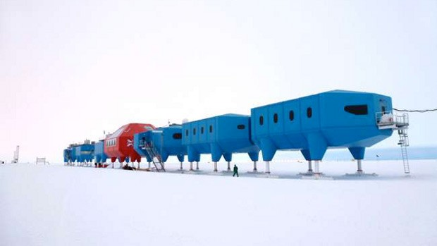 New Antarctic research lab has extendable legs, can move over the ice