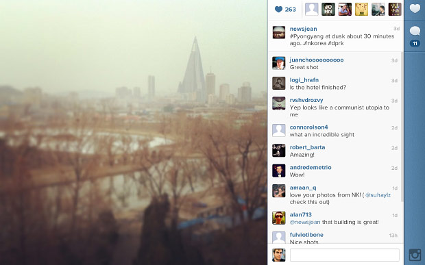 Instagram, Twitter posts begin to flow from North Korean 3G network