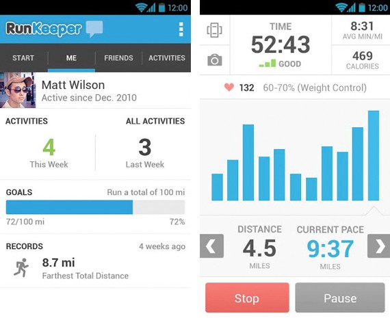 RunKeeper 30 for Android takes on a Holonative look, puts athletes front and center