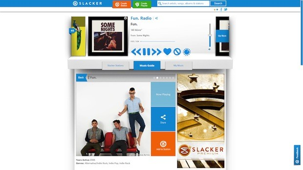 Slacker redesign goes brighter and bolder as it moves to the mainstream