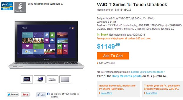 Sony Vaio T14 and T15 arrive at Sony's store, Best Buy starting at $770
