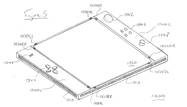 Sony patent app shows an imaginative multisensor control surface, less imaginative 'EyePad' name