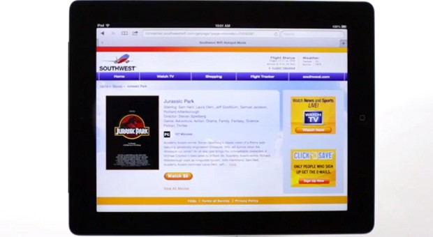 Southwest Airlines' ondemand WiFi video reaches all capable aircraft