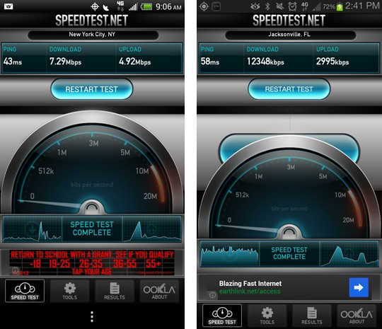 Sprint LTE also live in parts of Florida, New York City and Washington, DC