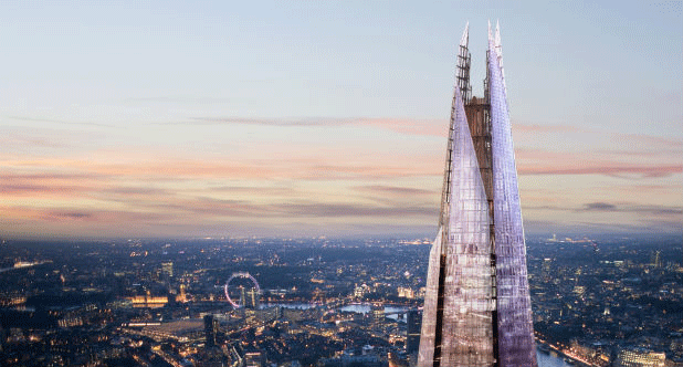 Vodafone brings brings fiber optics to the Shard, gives you signal at London's highest point