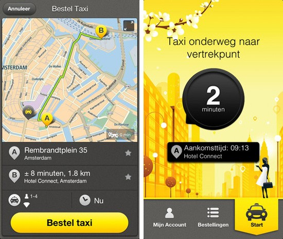 TomTom releases iPhone app for its taxi trial service, helps Dutch get home quickly