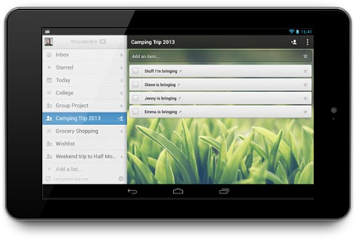Wunderlist 2 task app hits Android tablets, comes to iPad soon