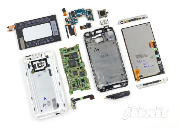 iFixit breaks open an HTC One, literally