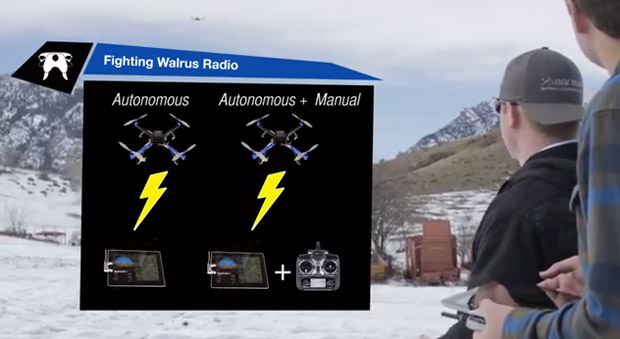 Fighting Walrus Radio turns your iPad or iPhone into a UAV controller video