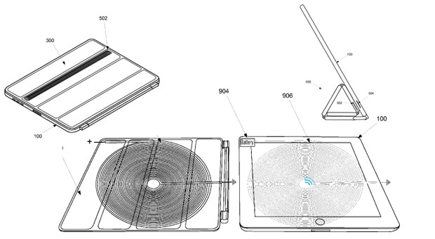 Apple proposes iPad wireless charging with a difference power comes from the Smart Cover