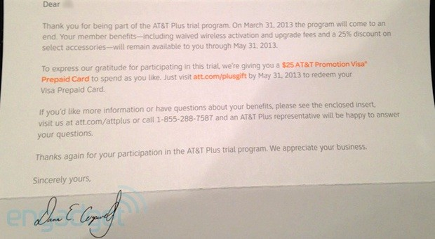 AT&amp;T Plus trial winding down on March 31st