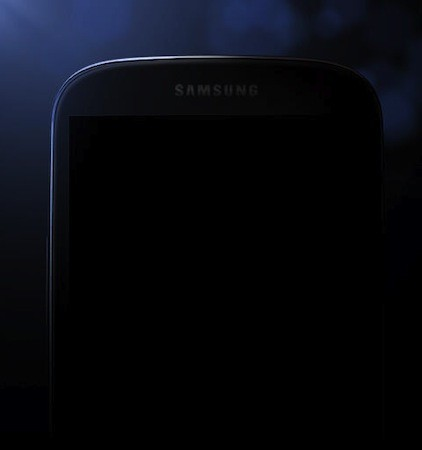 Samsung's latest Galaxy S IV teaser the rough outline of what appears to be a phone