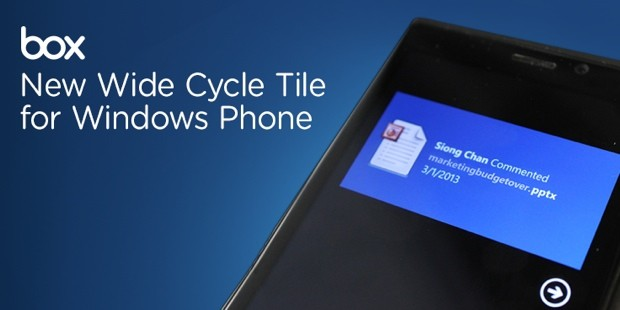 Box Windows Phone, Windows 8 apps get new features, including file previews and more