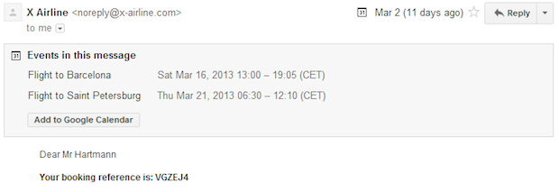 Gmail lets you add ics calendar events directly to GCal with a single click