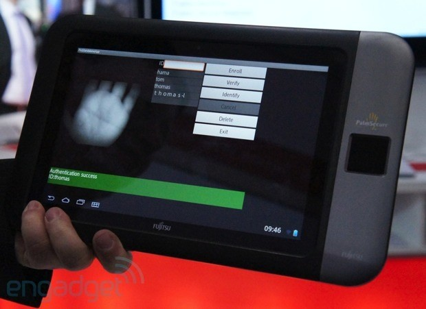 Fujitsu shows off a tablet prototype with a built-in palm reader (hands-on)
