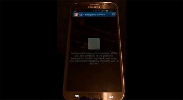 Galaxy Note II vulnerability lets attackers briefly access home screen apps video