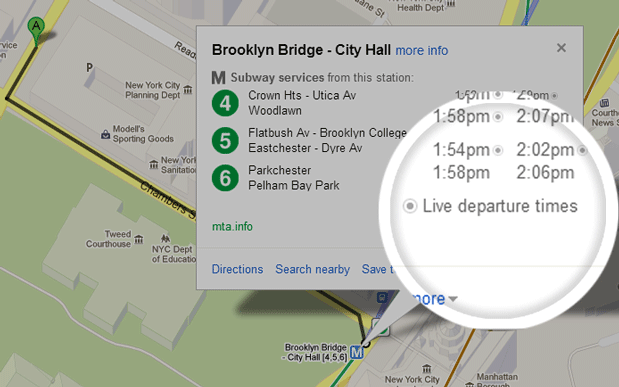 Google Maps now delivering live transit info in New York, DC and Salt Lake City