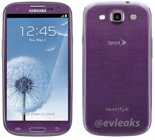 Samsung Galaxy S III leaked in purple, pegged for April release on