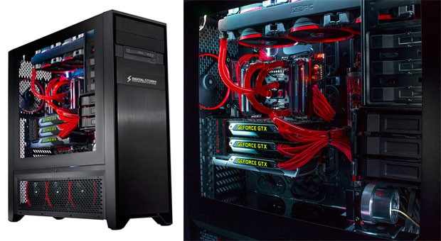 Digital Storm's Hailstorm II gaming PC lets you cram in four GPUs and radiators, for a sum