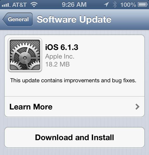 Apple releases iOS 613 to patch lock screen security hole