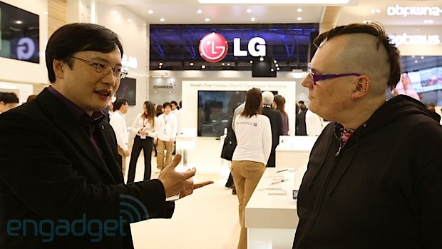 The Engadget Interview Chul Bae Lee, VP of LG's mobile design lab at MWC 2013