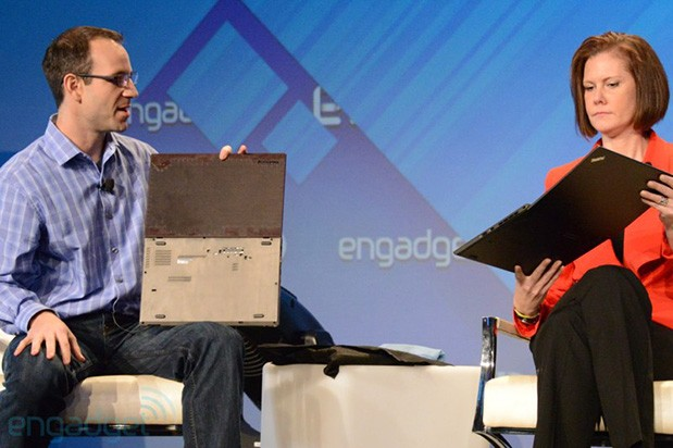 Lenovo's Corinna Proctor and Jason Parrish backstage at Expand (video)