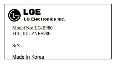 LG E980 arrives in the FCC's database with LTE is this the Optimus G Pro for AT&T
