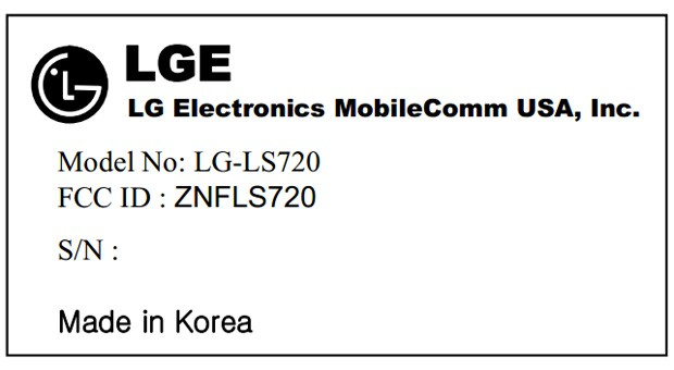LG LS720 hits the FCC, hints at a midtier Sprint or Virgin phone with Jelly Bean