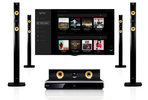LG adds free Spotify trial to its latest range of home theater gear