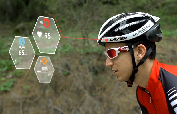 Insert Coin LifeBeam heartmonitoring smart cycling helmet video