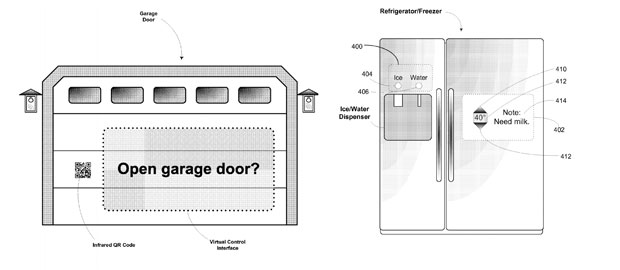 Google's applies for another Glass patent, thinks about controlling your garage door and fridge