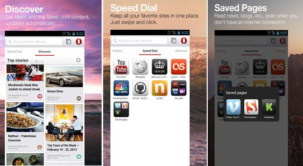 Opera browser for Android beta hits Play store beta packing webkit horsepower