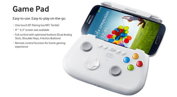 Samsung Galaxy S 4 Game Pad supports 6.3-inch devices, raises eyebrows
