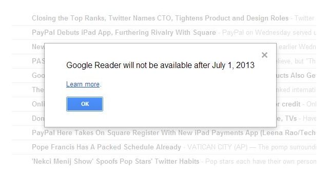 DNP Editorial The many outrages of Google Reader's demise