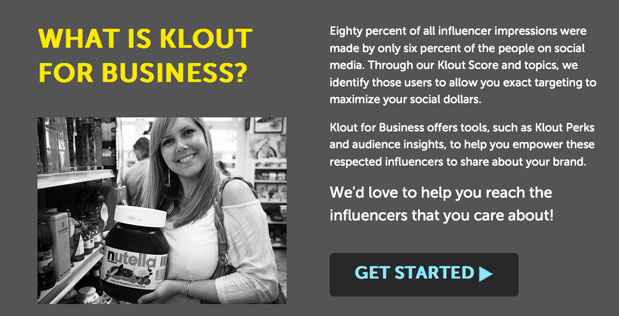 screen shot 2013 03 20 at 3.19 Klout for Business translates social media influence into big brand power