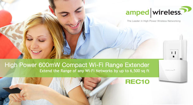 Amped Wireless REC10 WiFi range extender is available from today for $80