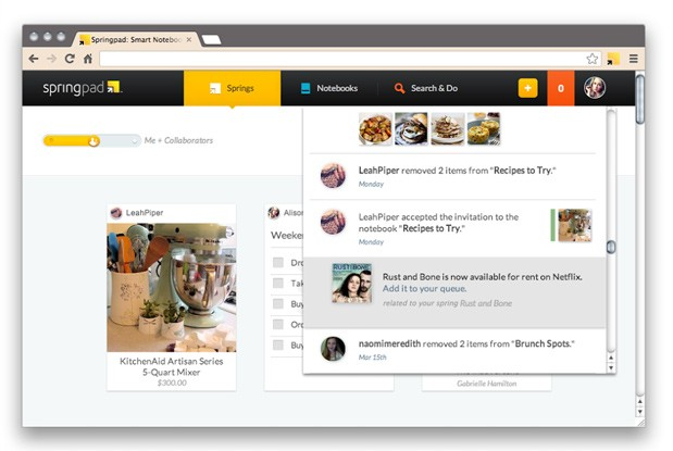 Springpad notetaking platform gets web interface overhaul, now an even worthier rival to Evernote